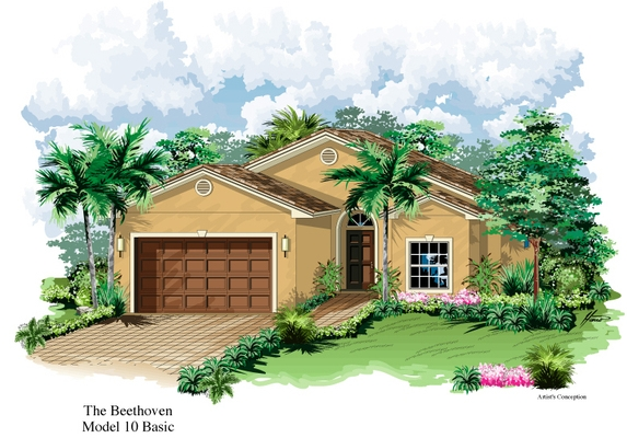 Beethoven Model Single Family Home Floor Plan | Luxurious Florida Retirement Communities