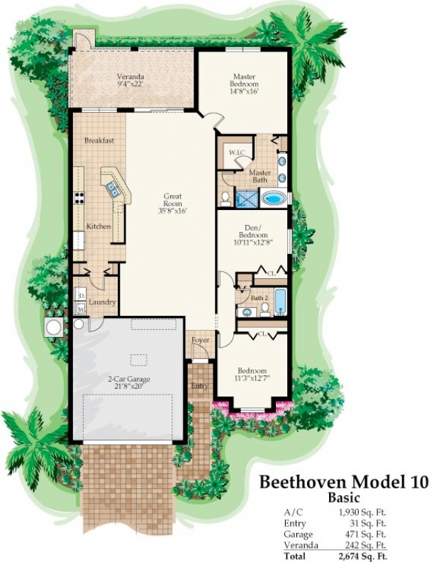 The Beethoven Model 10 Floor Plan | Florida Retirement Communities